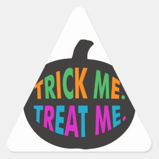 Trick Me Treat Me Multi-Color Triangle Sticker