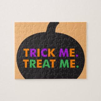 Trick Me, Treat Me Multi-Colors Jigsaw Puzzle