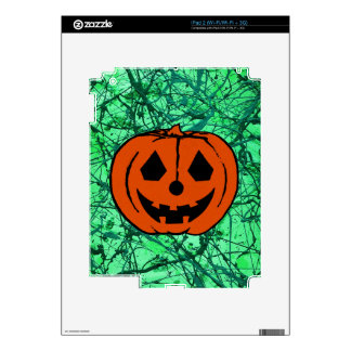 TRICK MY TREAT PUMPKIN Jack-O-Lantern design 2 iPad 2 Decal