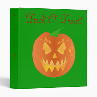 Trick O' Treat In Green And Red I Binder