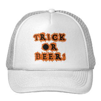TRICK OR BEER Funny Halloween Tshirt Hats