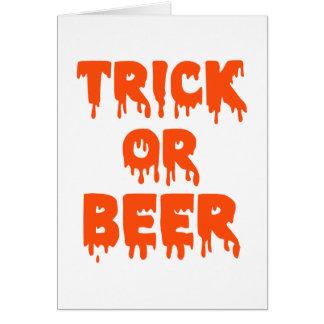 Trick or Beer Halloween Greeting Card