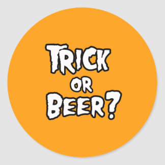 TRICK OR BEER - Halloween -.png Stickers