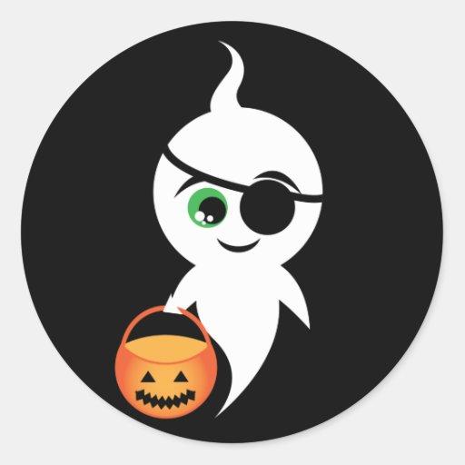 Trick Or Boo Classic Round Sticker