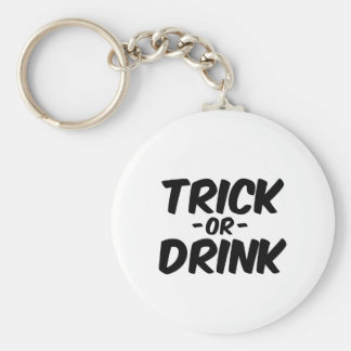 Trick or Drink Funny Halloween Key Chain