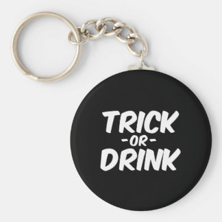 Trick or Drink Funny Halloween Key Chains