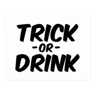 Trick or Drink Funny Halloween Postcard