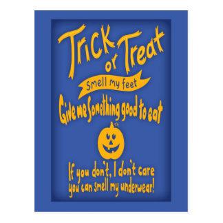 Trick or Feet Postcard