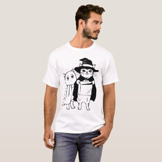 Trick or Meow Illustration T-Shirt