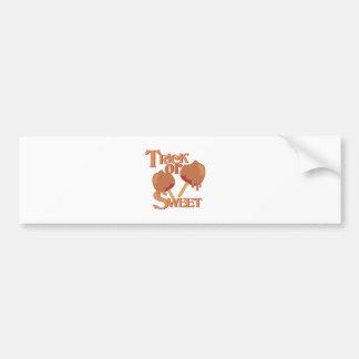 Trick Or Sweet Bumper Sticker