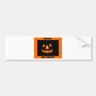 Trick or treat 2 bumper sticker