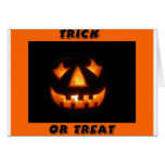 Trick or treat 2 greeting card
