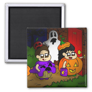 Trick or treat 2 inch square magnet