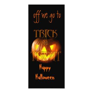 Trick or Treat 4x9.25 Paper Invitation Card