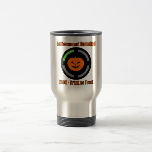 Trick or Treat - Achievement Unlocked 15 Oz Stainless Steel Travel Mug