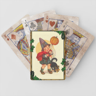 Trick or treat at Halloween Bicycle Playing Cards