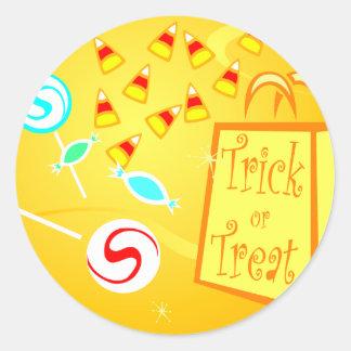 Trick or Treat Bag Classic Round Sticker
