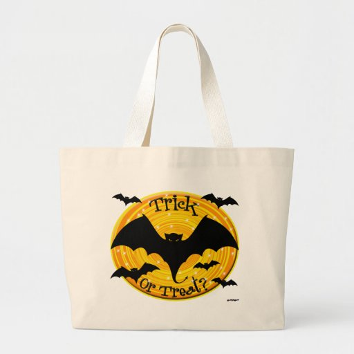 Trick Or Treat? Bats Large Tote Bag