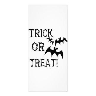 Trick or Treat Bats Rack Card Design