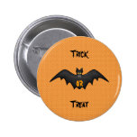 Trick or treat batty button