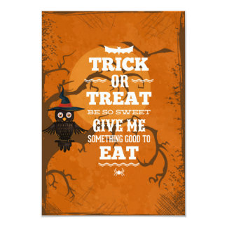 Trick or Treat Be So Sweet Halloween Party 3.5x5 Paper Invitation Card