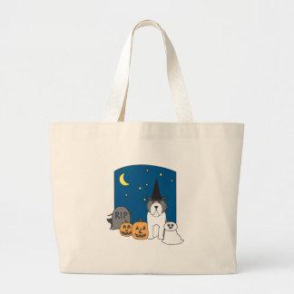 Trick or Treat Beardie Halloween Tote Bag