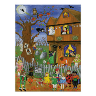 Trick or Treat, Bite and Eat. Halloween Poster