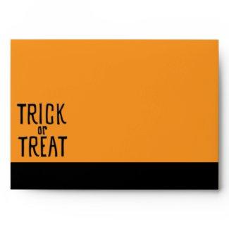 Trick or Treat black Card Envelope envelope