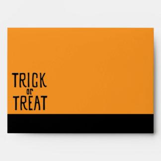 Trick or Treat black Card Envelope