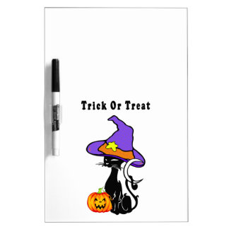 Trick or Treat Black Cat Dry-Erase Board