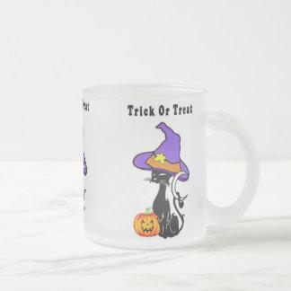 Trick or Treat Black Cat Mugs