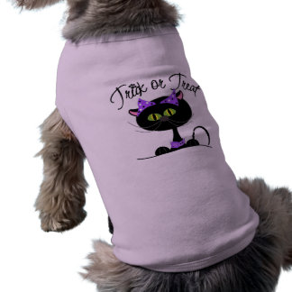 Trick or Treat Black Cat T-Shirt