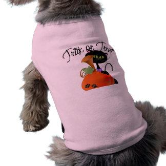 Trick or Treat Black Cat with Pumpkin T-Shirt