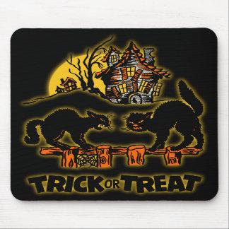 Trick Or Treat Black Cats Mousepad