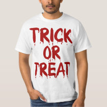 Trick Or Treat Bloody Red T Shirt