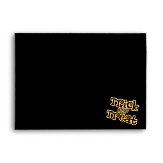 Trick-or-Treat Bold Purple Stripes Envelope