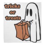 Trick or treat - Boo - cartoon ghost - baby ghost Bandana