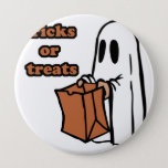 Trick or treat - Boo - cartoon ghost - baby ghost Button