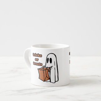 Trick or treat - Boo - cartoon ghost - baby ghost Espresso Cup