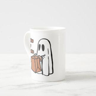 Trick or treat - Boo - cartoon ghost - baby ghost Tea Cup