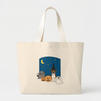 Trick or Treat Boxer Halloween Tote Bags
