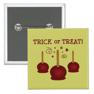 Trick or Treat Candy Apples Pinback Button
