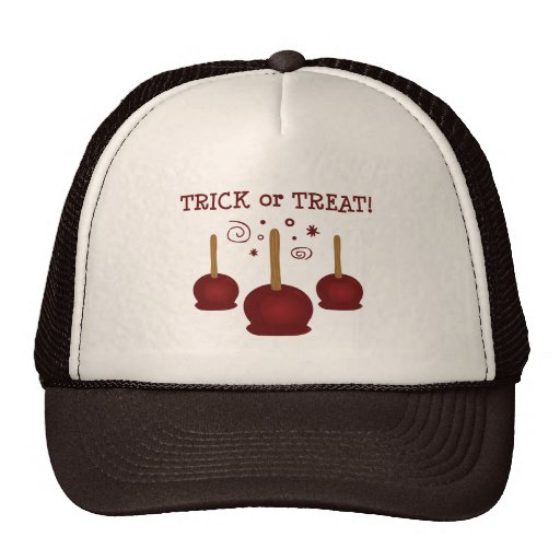 Trick or Treat Candy Apples Mesh Hats