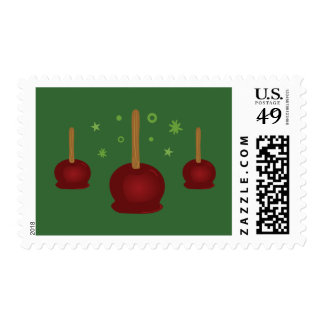 Trick or Treat Candy Apples Postage Stamp