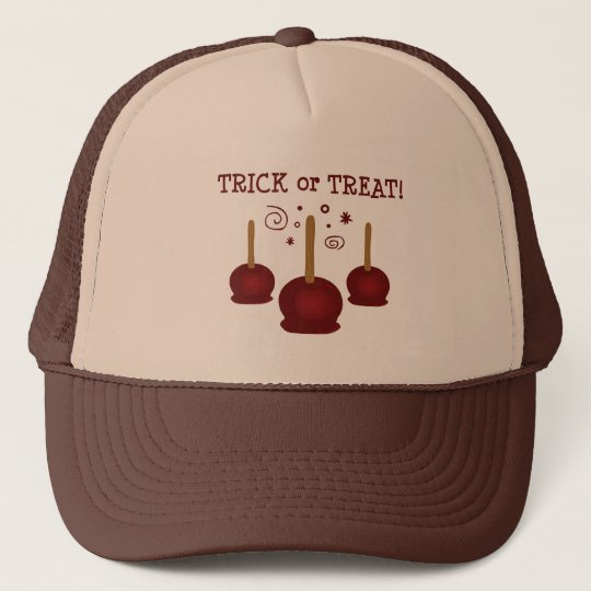 Trick or Treat Candy Apples Trucker Hat