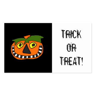 Trick or Treat Candy Bag Halloween Coupon Double-Sided Standard Business Cards (Pack Of 100)