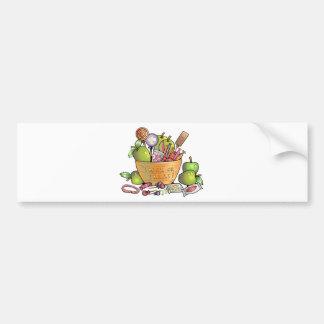 Trick or Treat Candy Bowl Bumper Sticker