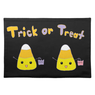 Trick or Treat Candy Corn Cloth Placemat