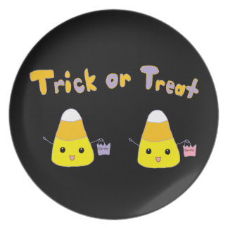 Trick or Treat Candy Corn Dinner Plates