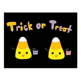 Trick or Treat Candy Corn Postcard